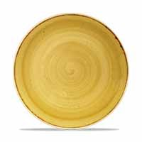 Stonecast Mustard Seed Yellow Coupe Plate 26cm