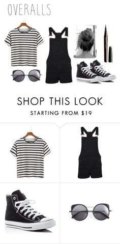 """""""Overalls✅"""" by fashion-unicorn-003 ❤ liked on Polyvore featuring WearAll, Converse, Wood Wood, Marc Jacobs, TrickyTrend and overalls"""
