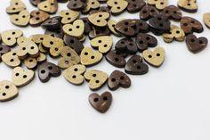 10 Heart Sew Through Coconut Button by boysenberryaccessory