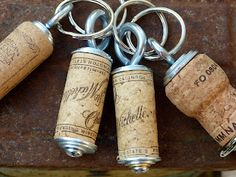 Charles shaw wine cork key chain with teal by conversationglass corks washers eye screws and regular screws love it do it yourself ideaswine solutioingenieria Gallery