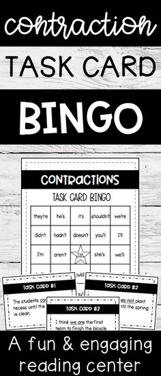 Fun reading center game or activity - great for 2nd or 3rd graders - contraction practice for centers, small group lessons, review, or independent practice
