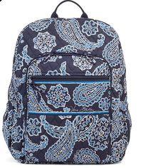 NWOT Vera Bradley Campus Backpack New Blue Bandana Vera Bradley BackPack Vera Bradley Bags Backpacks