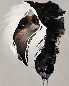 Details about Totem Jeff Langevin Fantasy Illustration Native American Bear Print Poster Native Art, Native American Art, American Women, American Symbols, Native Indian, American Indians, American History, Image Tatoo, L'art Du Portrait