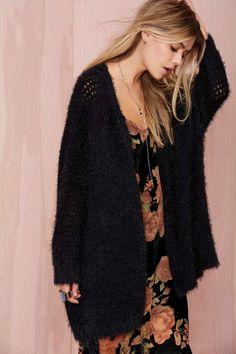 Madeline Shag Knit Cardigan