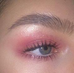 pink eyeshadow #pinkeyeshadows #'cutemakeuplooks'