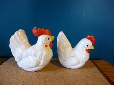 Vintage Hen and Rooster Salt and Pepper Shakers | Haute Juice
