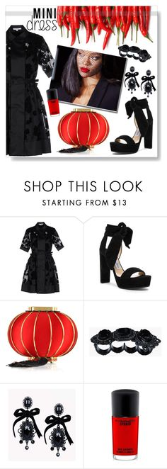 """""""Untitled #710"""" by lo2lo2a ❤ liked on Polyvore featuring Carven, Jimmy Choo, Charlotte Olympia, Dsquared2 and MAC Cosmetics"""