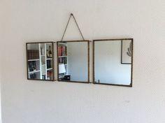 Miroir de barbier / Triptyque annees 50