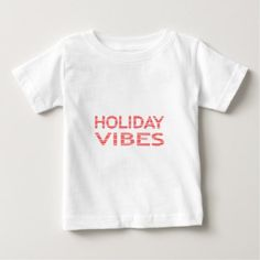 Holiday vibes - strips - red and white. baby T-Shirt - typography gifts unique custom diy