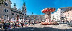 Salzburger Rupertikirtag - auf den Plätzen der Salzburger Altstadt #salzburg #brauchtum Dom, Times Square, Street View, Places, Vacations, Travel, Old Town, Holidays, Viajes
