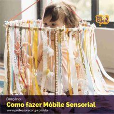 Como fazer móbile sensorial para bebês! :) <3
