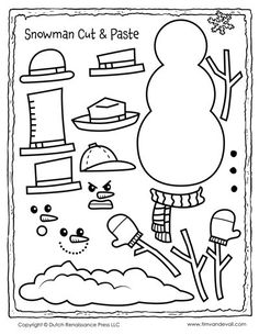 Celebrate Christmas with free snowman clipart, a printable snowman template for kids, snowman Christmas Tree decorations, and a snowman coloring page. Snowman Coloring Pages, Coloring Pages For Kids, Snowman Clipart, Christmas Activities For Kids, Christmas Crafts, Simple Collage, Face Template, Kindergarten Crafts, Winter