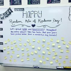 """Get your boards ready! We thought of #RAKideas today but you can brainstorm with your kiddos tomorrow! #spreadkindnesslikeconfetti #teachthemyoung…"""