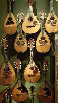 Martin Mandolins, bowl back and flat back, built to different levels of trim. These instruments are from the 1900's.