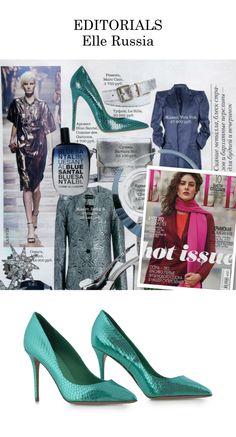 Editorial focus. ELLE Russia Shop the style on Le Silla e-boutique at http://www.lesilla.com/shop/prodotto/76514/