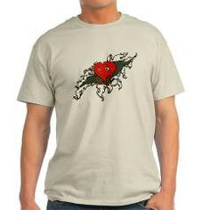 Valentine's Day Heart Beating out of Chest Mens T-Shirt
