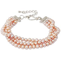 Beaded Wedding Pearl Bracelet
