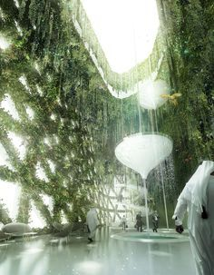 Hotel in Dubai, by Stöermer Murphy + Partners visualization by Bloomimages Green Architecture, Futuristic Architecture, Landscape Architecture, Landscape Design, Architecture Design, Industrial Architecture, Concept Architecture, Architecture Visualization, 3d Visualization
