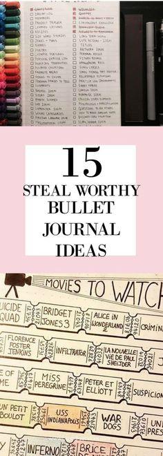 15 Steal Worthy Bullet Journal Ideas