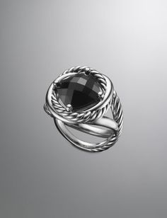 Infinity Ring, Black Onyx by David Yurman at Neiman Marcus.