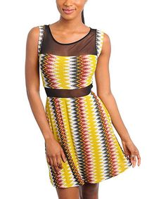 Look what I found on #zulily! Yellow Keyhole Sleeveless Dress #zulilyfinds