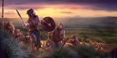El juez Gedeón al frente de unos soldados israelitas