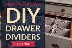 Lining Drawers, Diy Drawers, Dresser Drawers, Bedroom Dresser Sets, Wood Bedroom Sets, Bedroom Furniture, Furniture Projects, Bedroom Decor, Diy Drawer Dividers