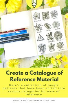 Create a catalogue of Reference Material Calligraphy Course, Sell Your Stuff, What To Draw, Reference Book, Always Learning, Over The Moon, Zentangle Patterns, Pattern Art, Mind Blown