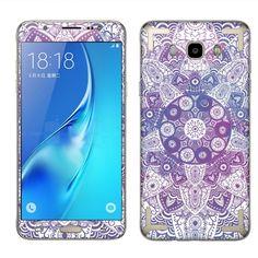 #Samsung Galaxy #J7 J710 2nd 2016 sticker decals-Purple Mandala (Style 2)