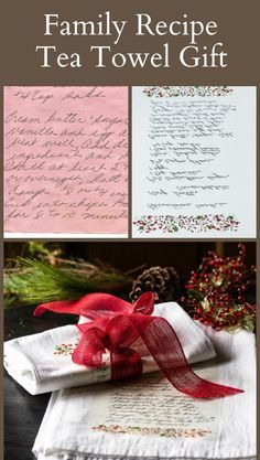 Learn how easily you can make this handwritten family recipe tea towel gift to preserve a loved ones memory and delight your family with a special gift.