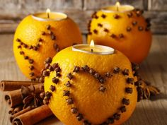 Orange and clove pomanders image More