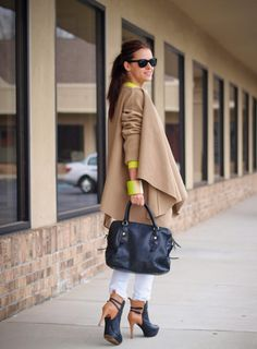 5. Neon Bracelet With Camel Outfit 2017 Street Style