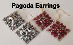 Pagoda Earrings--Intermediate Tutorial