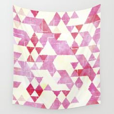 Buy Abstract Pink Triangles, Watercolor Pattern Wall Tapestry by lavieclaire. Worldwide shipping available at Society6.com. Just one of millions of high quality products available.