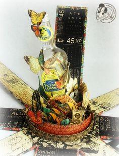 Pandora box - Graphic45: Olde Curiousity Shoppe - by Alberto Juarez