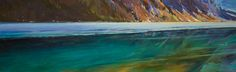 """'Spring Warmth on the lake' 20"""" x 64""""  Acrylic on Canvas  Artist Charlie Easton"""