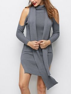 GET $50 NOW | Join Zaful: Get YOUR $50 NOW!http://m.zaful.com/slit-cold-shoulder-sweater-dress-p_257059.html?seid=3035617zf257059