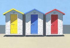 three-huts print