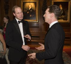 What do you think Prince William and Benedict Cumberbatch were laughing about?     He probably. Wants his ash tray back!