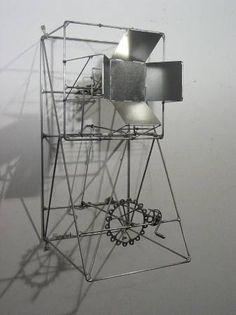 René Ach - fermer la fenêtre #kinetic #wire #sculpture