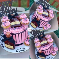 Alcohol Birthday Cake, 15th Birthday Cakes, Alcohol Cake, Sweet 16 Birthday Cake, Funny Birthday Cakes, Beautiful Birthday Cakes, 21st Birthday, Birthday Goals, Birthday Ideas