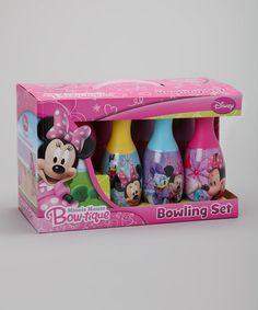 Look what I found on #zulily! Minnie Bow-tique Bowling Set by Minnie Mouse #zulilyfinds