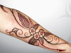 2013041101 - Tattoo in the category of flowers by Daemon Rowanchilde of Urban Primitive, Fergus, Ontario - 416.966.9155 - henna inspired for...
