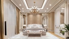 Commercial Interior Design, Commercial Interiors, Trump New, Design Projects, Curtains, Architecture, Bedroom, Classic, Modern