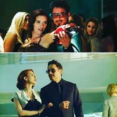 Tony Stark and Natasha Romanoff