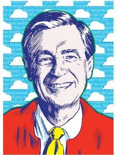 Mister Rogers Pop Art Print 13x19. $25.00, via Etsy.