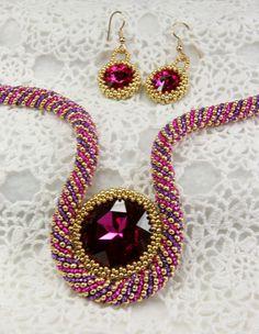 Scheherazades Jewels in Fuchsia Purple and by SallyJeansBeadedGems, $100.00