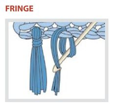 How to make Fringe for scarfs etc. diagram