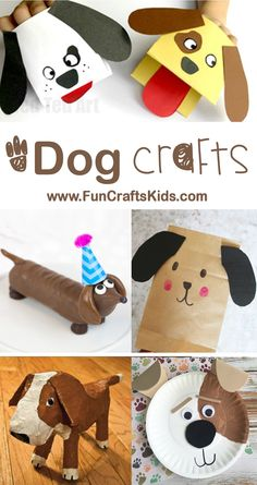 Chinese New Year Dog Crafts - Fun Crafts Kids Chinese New Year Crafts For Kids, Animal Crafts For Kids, Crafts For Kids To Make, Toddler Crafts, Animals For Kids, Preschool Crafts, Art For Kids, Chinese Crafts, Chinese Paper