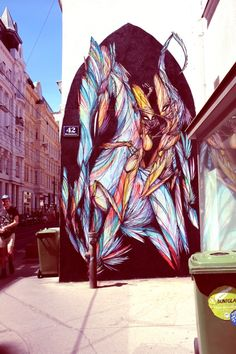 James Bulloughs Fractured Paintings In Motion Street Art Art - Building in berlin gets transformed by amazing 137 foot tall starling mural
